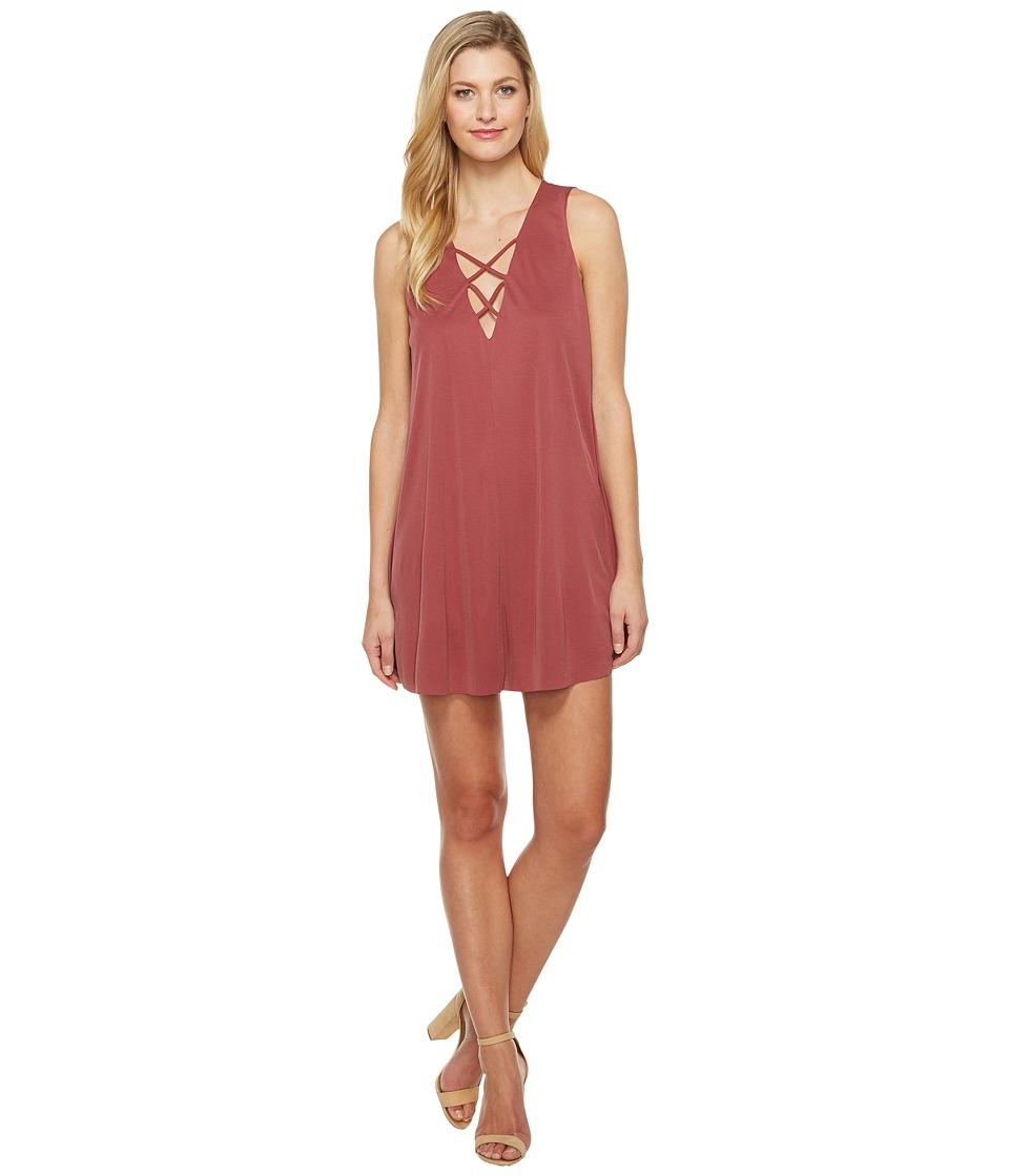 Culture Phit - Maja Sleeveless Dress with Strap Detail (Burgundy) Women's Dress