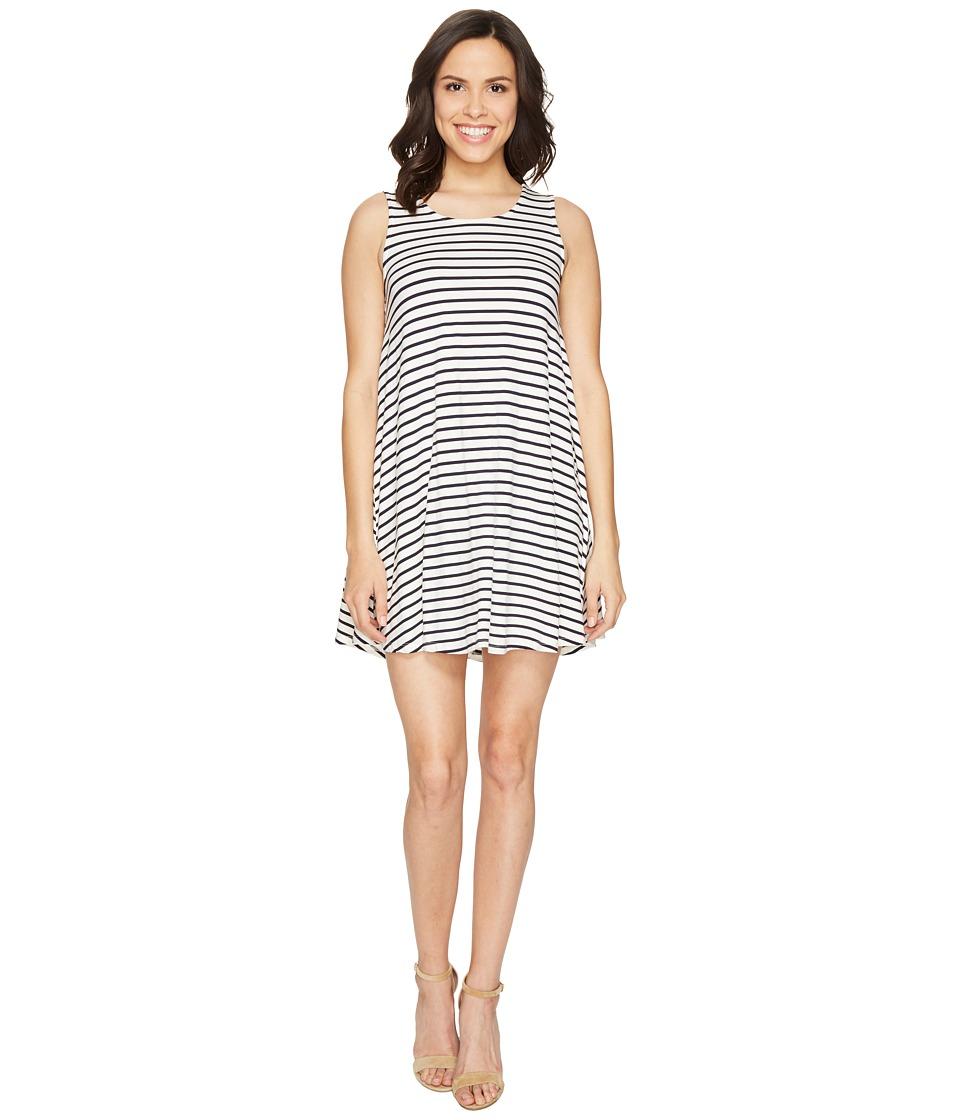 Culture Phit - Aya Sleeveless Dress with Open Back (Cream/Navy) Women's Dress