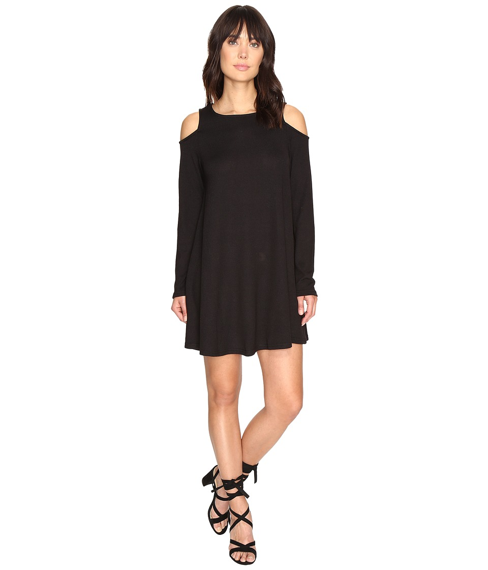 Culture Phit - Vera Long Sleeve Cold Shoulder Dress (Black) Women's Dress