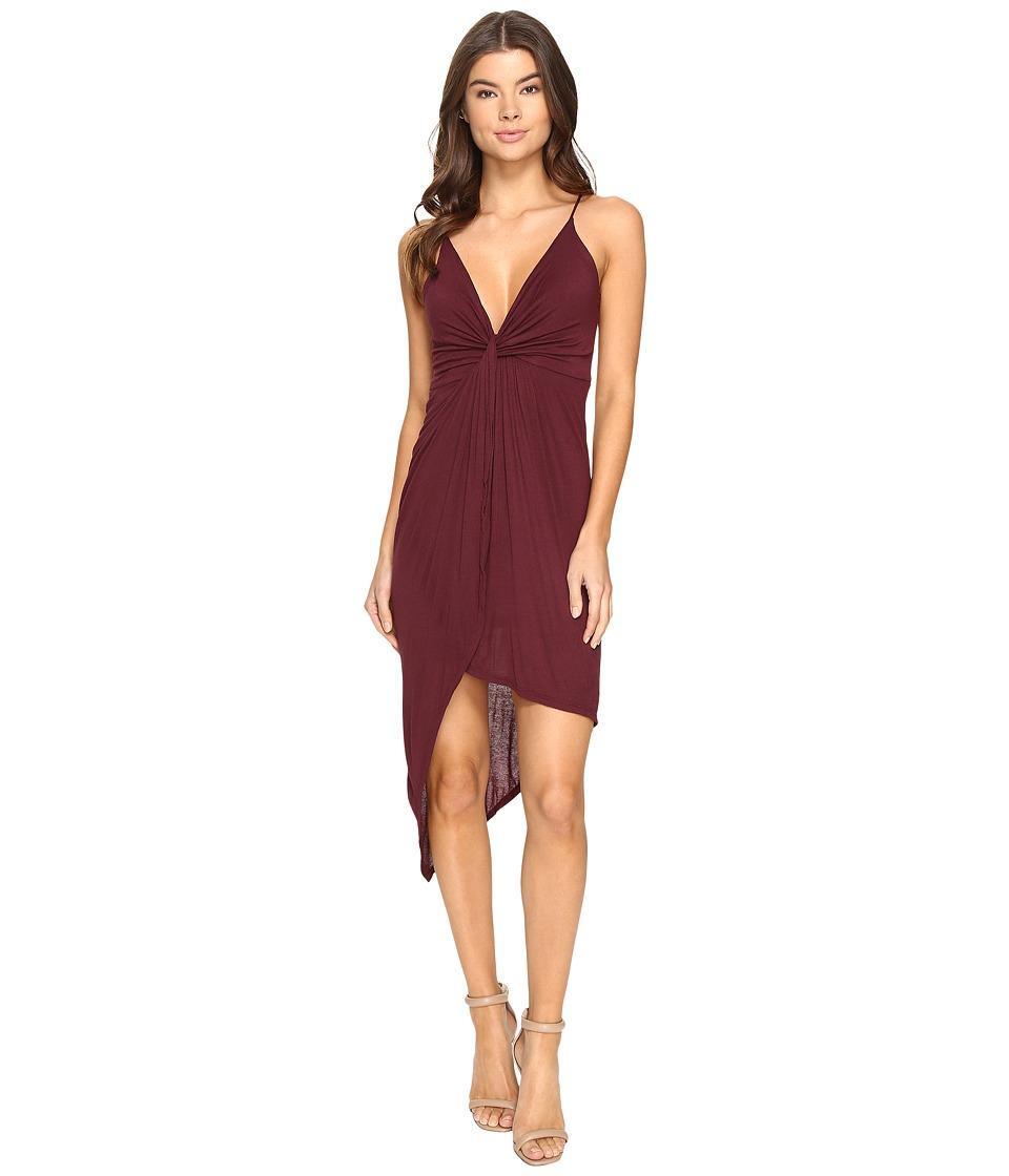 Culture Phit - Augustina Spaghetti Strap Dress (Burgundy) Women's Dress