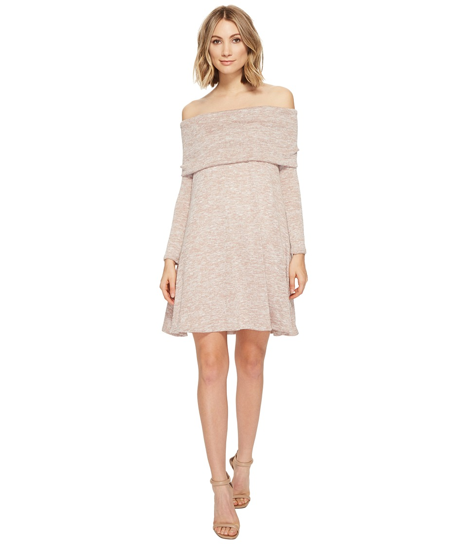 Culture Phit - Kalea Off the Shoulder Sweater Dress (Oatmeal) Women's Dress