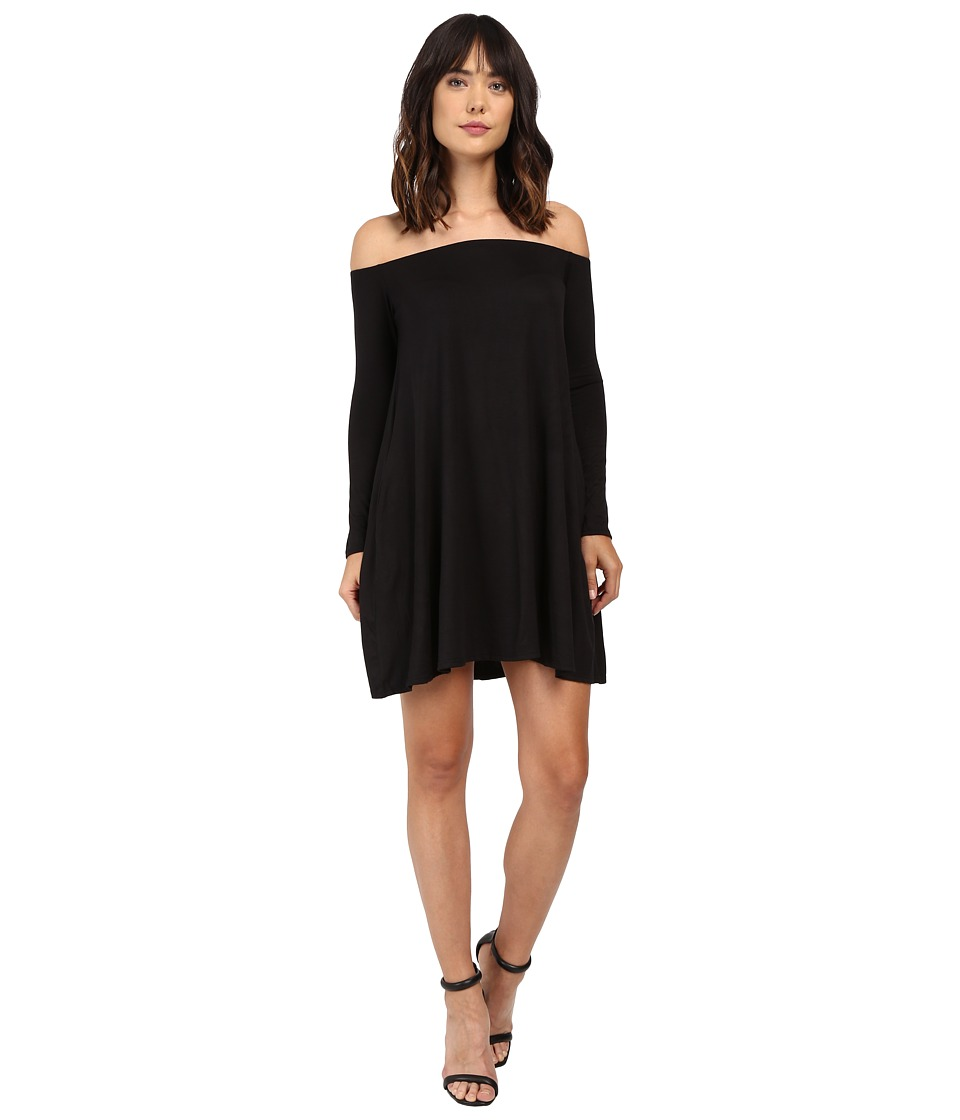Culture Phit - Taryn Long Sleeve Off the Shoulder Dress (Black) Women's Dress