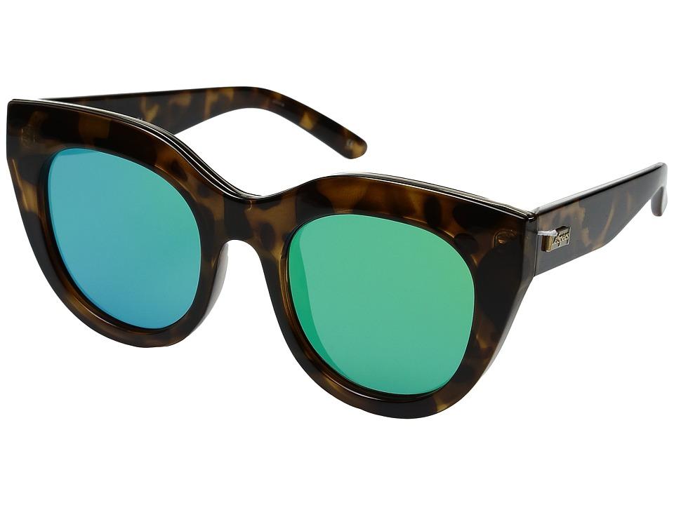 Le Specs - Air Heart (Milky Tortoise/Gold) Fashion Sunglasses