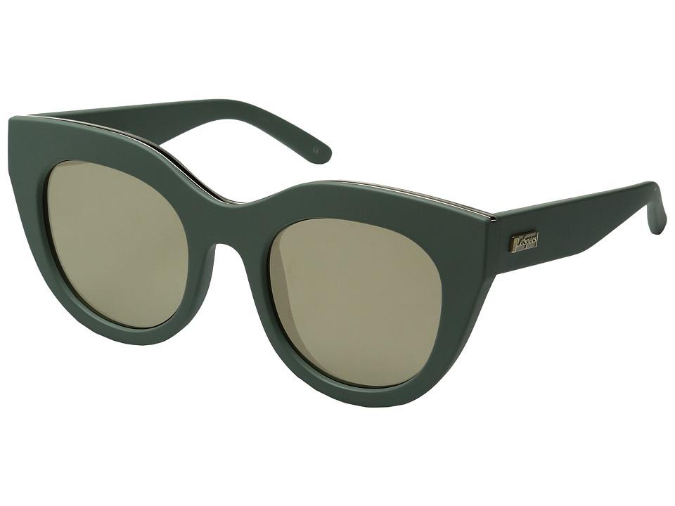 Le Specs - Air Heart (Matte Olive/Gold) Fashion Sunglasses