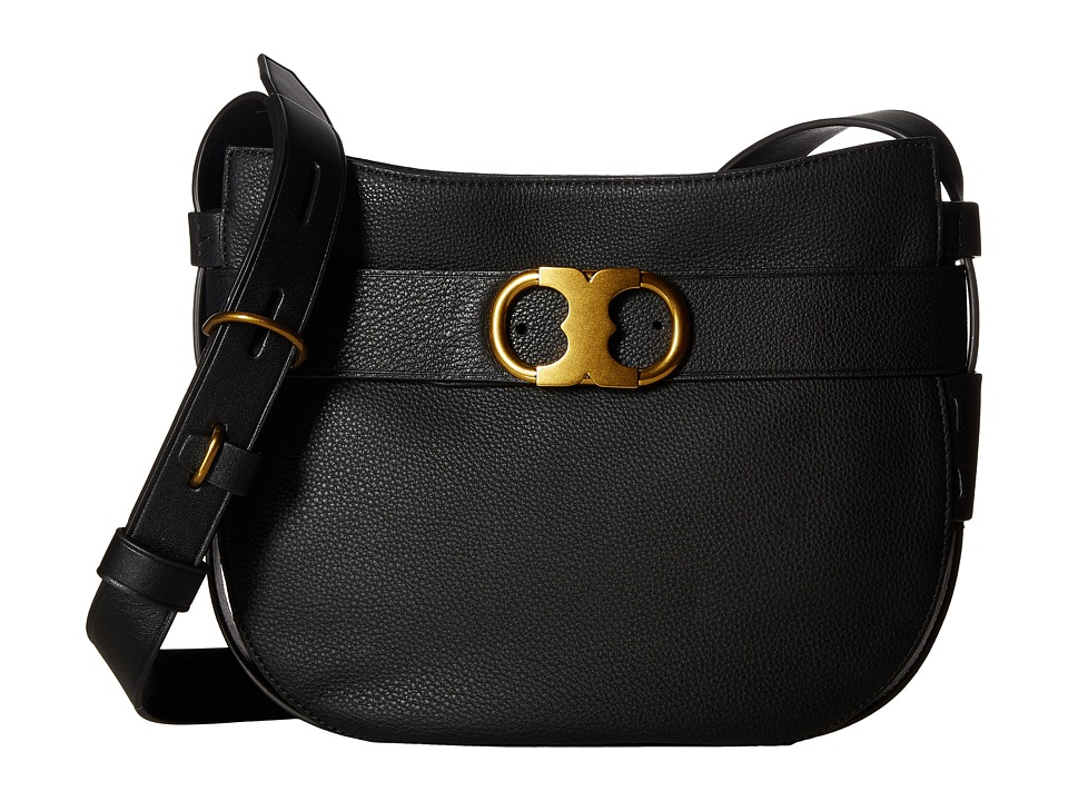 Tory Burch - Gemini Link Belted Small Hobo (Black) Hobo Handbags