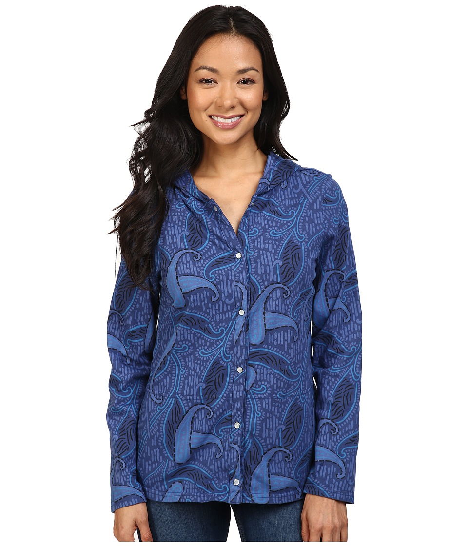 Fresh Produce - Paisley Key Largo Jacket (Moonlight Blue) Women's Jacket