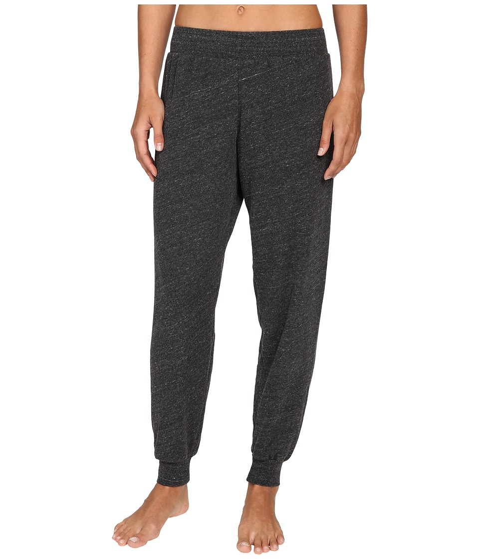 Spiritual Gangster - Good Vibes Embroidery Lounge Pants (Charcoal Heather) Women's Casual Pants