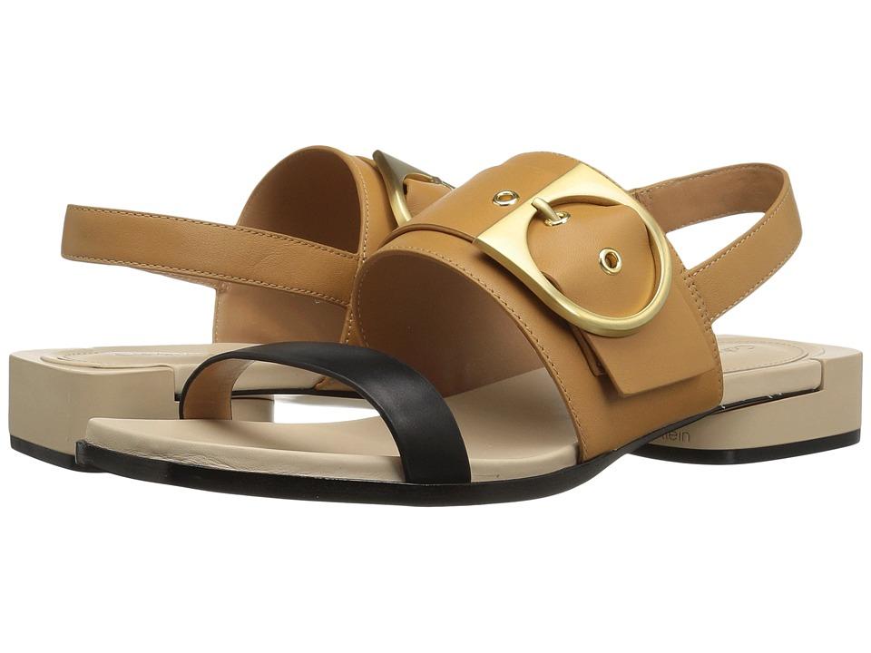 Calvin Klein - Abree (Black/Almond Tan/Sand Leather) Women's Shoes