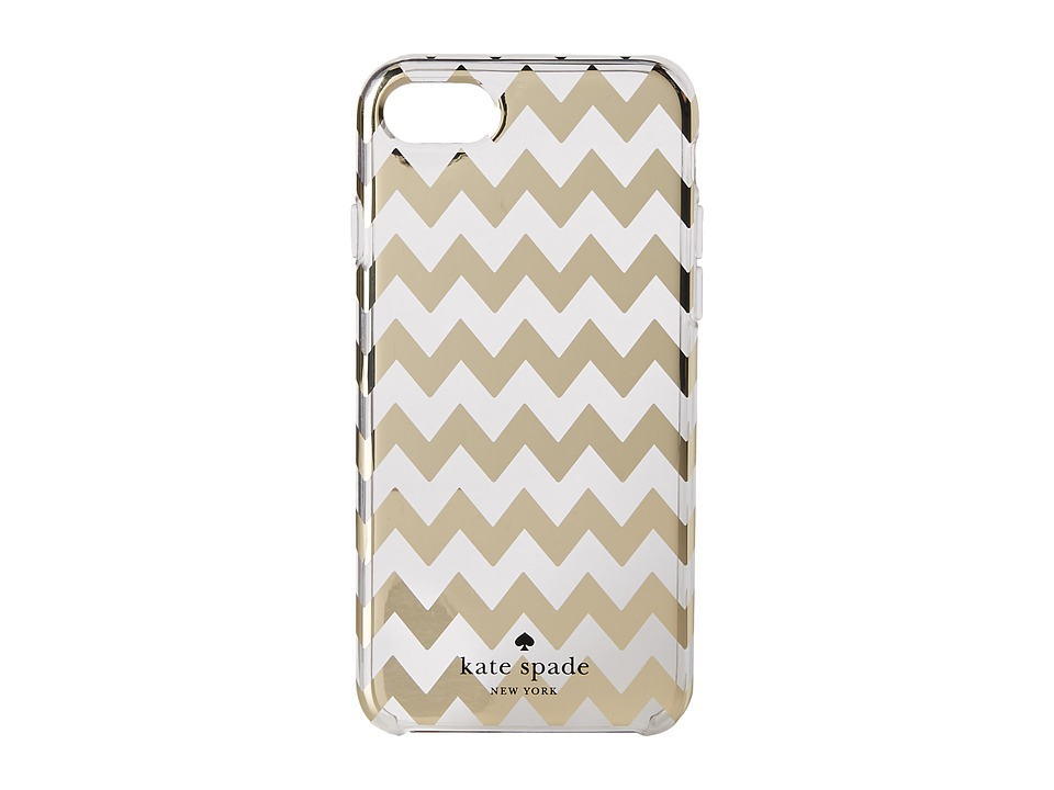 Kate Spade New York - Chevron Gold Foil Phone Case for iPhone 7 (Clear Multi) Cell Phone Case