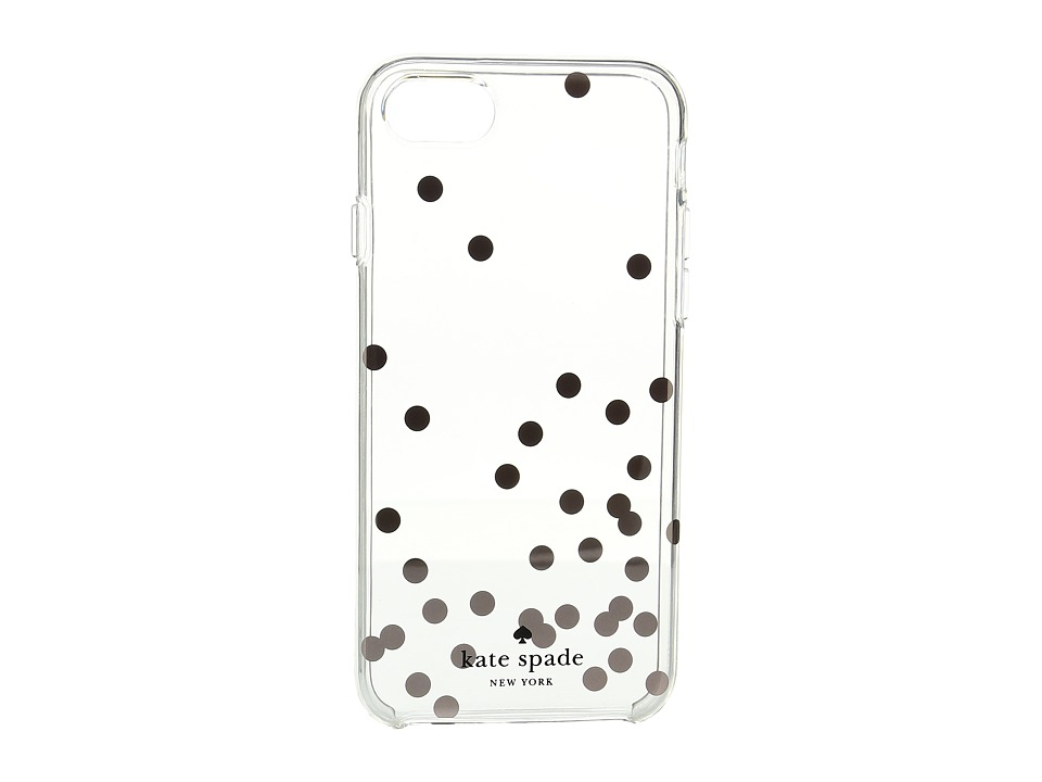 Kate Spade New York - Confetti Rose Gold Foil Phone Case for iPhone 7 (Clear Multi) Cell Phone Case