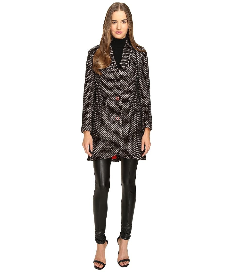 Manila Grace - Tweed Coat (Brown) Women's Coat