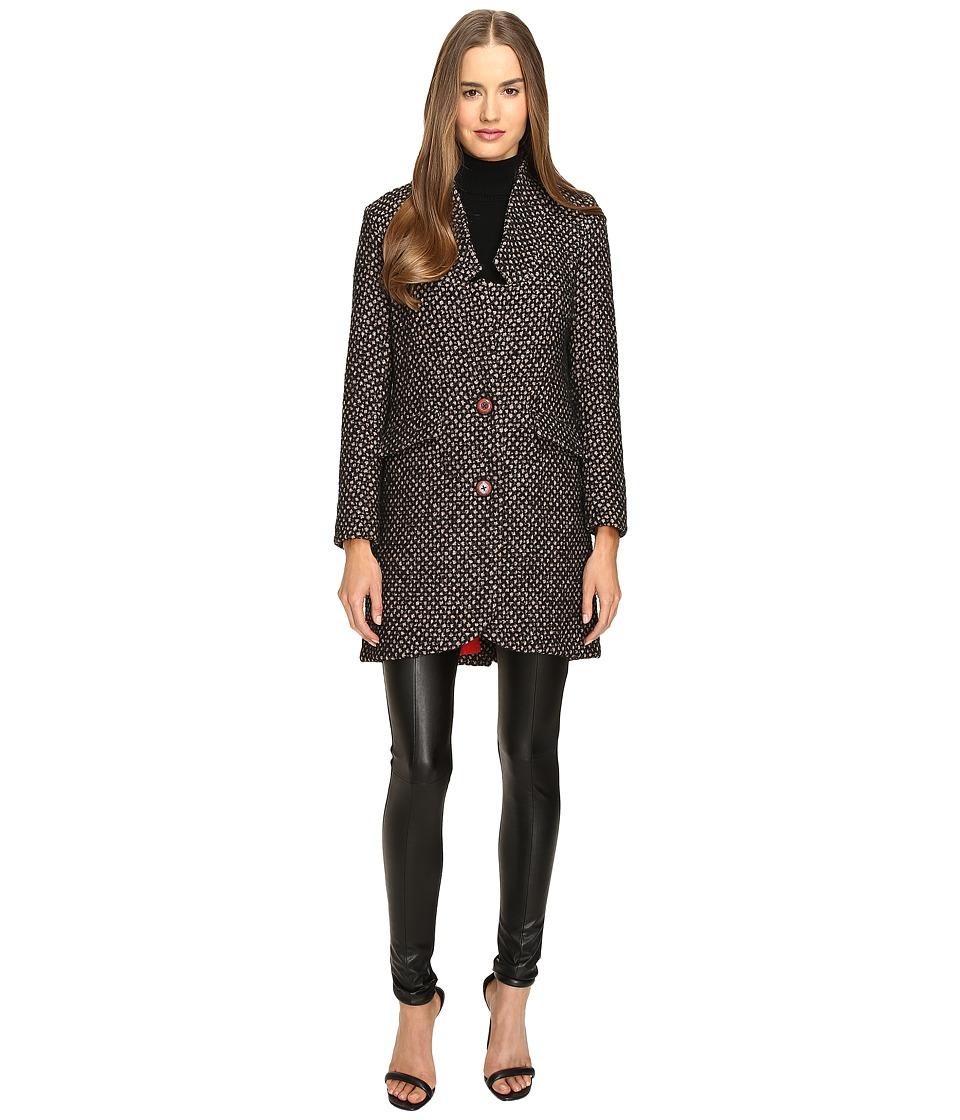 Manila Grace - Tweed Coat (Brown) Women's Coat