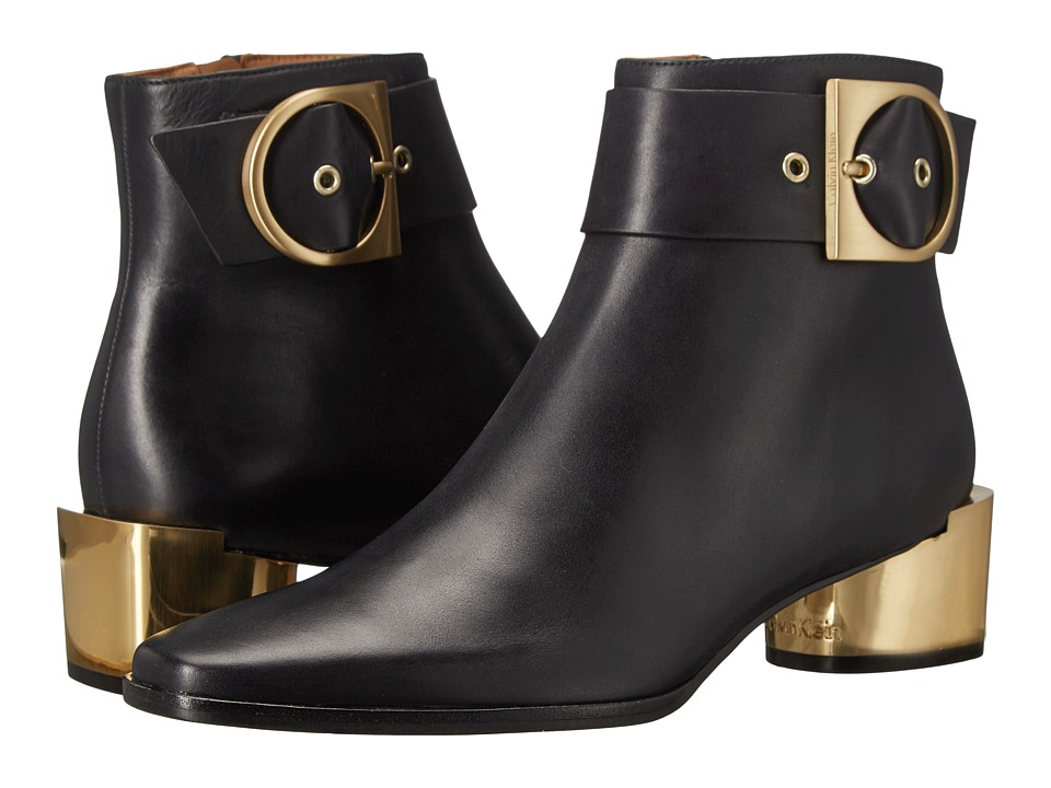 Calvin Klein - Andrina (Black Leather) Women's Shoes