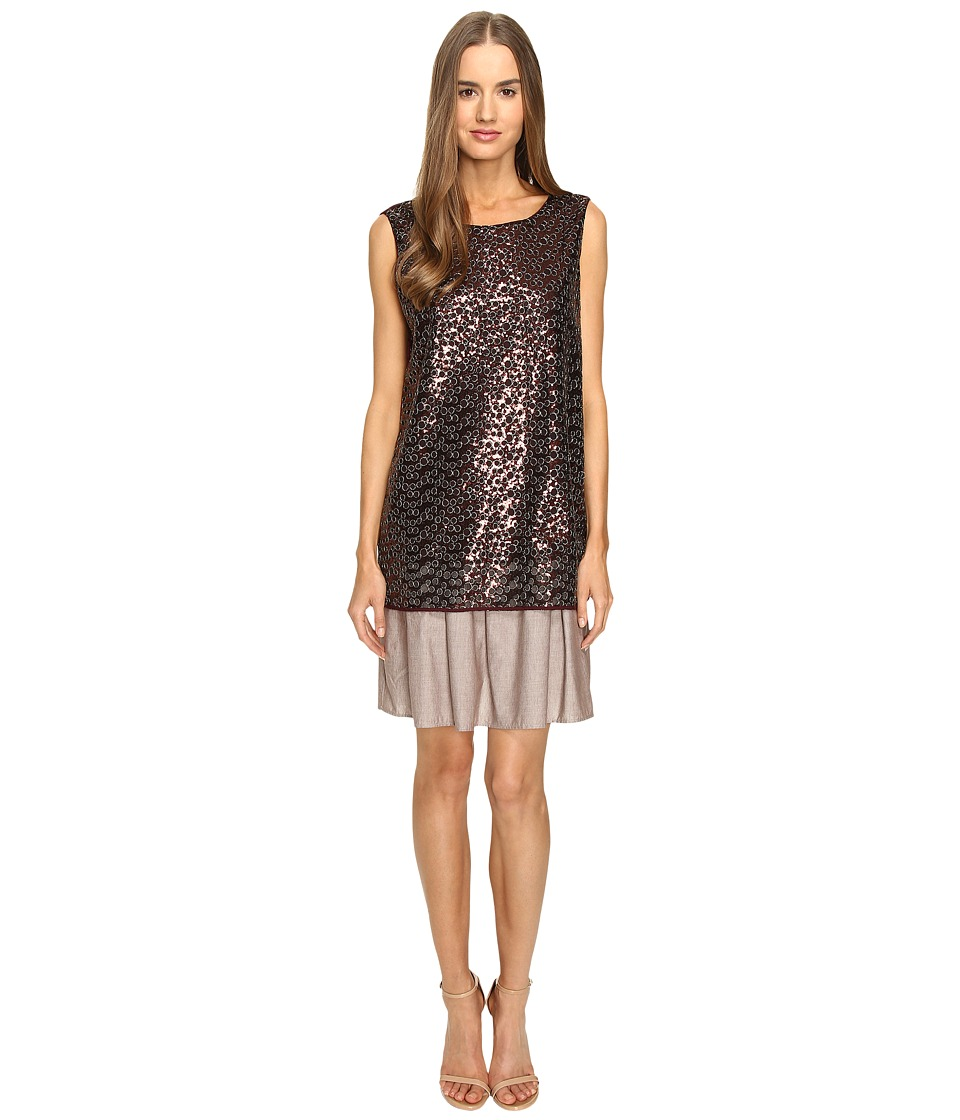 Manila Grace - Sequined Dress (Bronze) Women's Dress