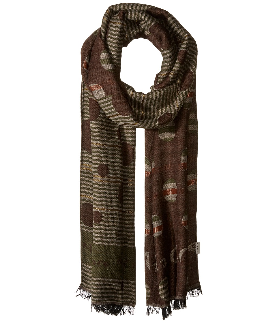 Manila Grace - Printed Scarf (Brown Mix) Scarves