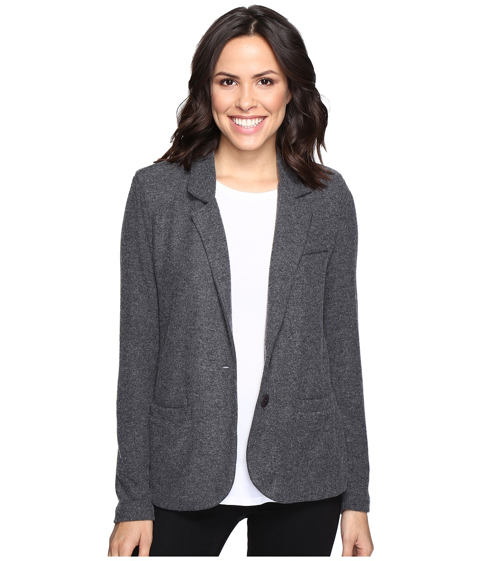 Tart - Essential Sweater Knit Blazer (Charcoal) Women's Jacket
