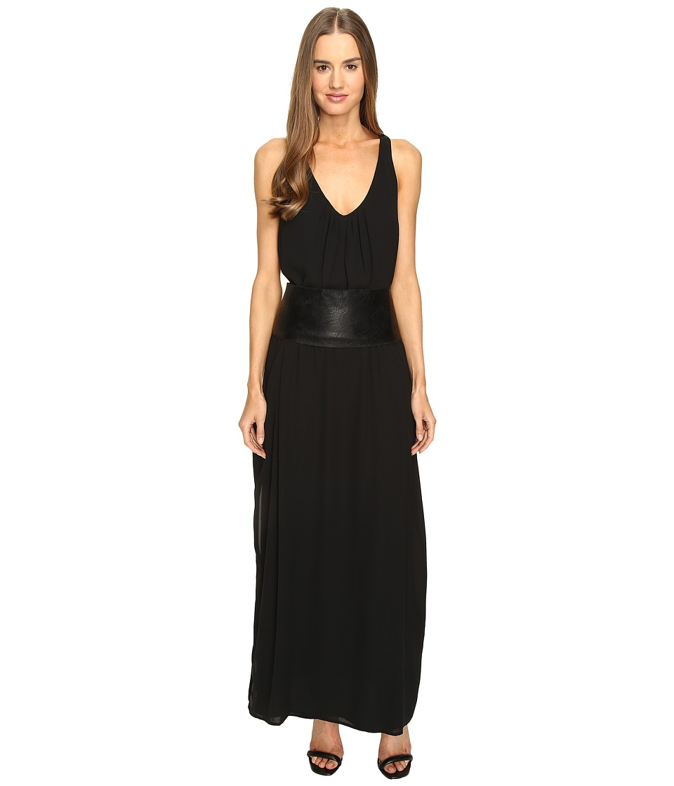 Manila Grace - Drop Waist Tank Dress (Black) Women's Dress