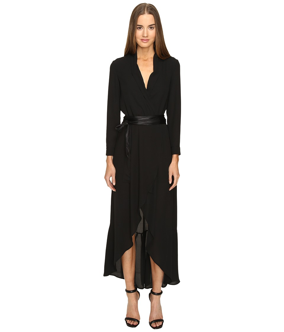 Manila Grace - Wrap Dress (Black) Women's Dress