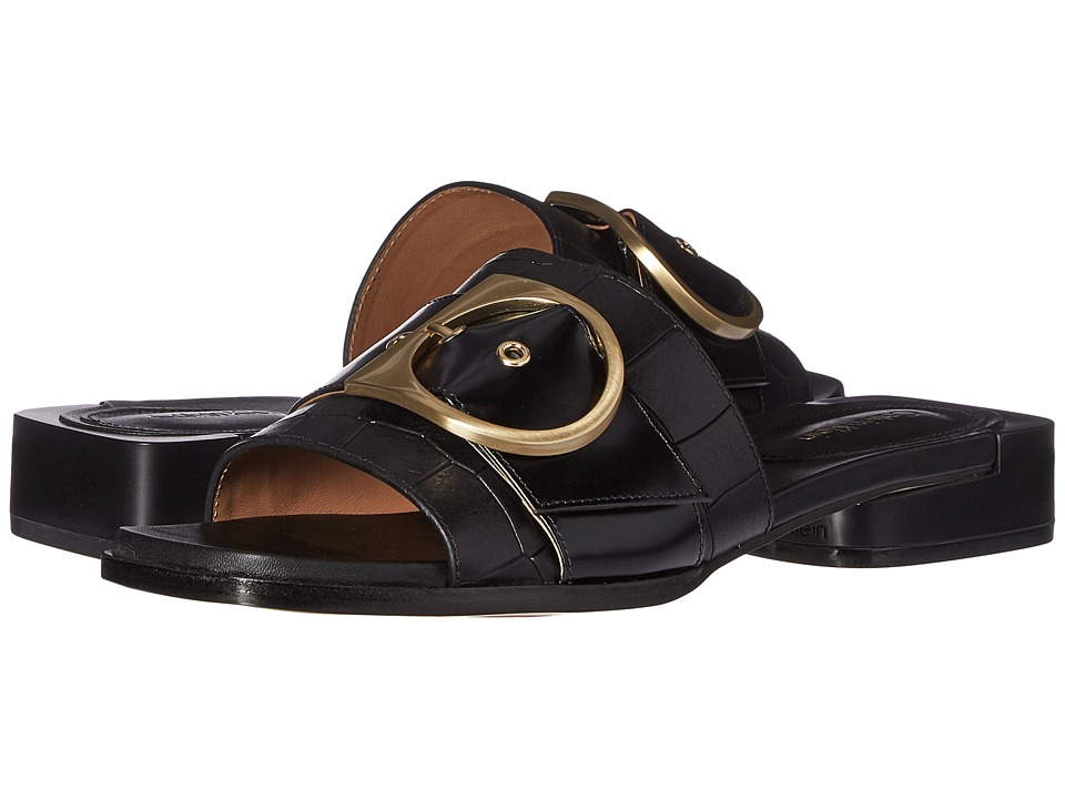 Calvin Klein Anthea (Black Croc Embossed Leather) Women