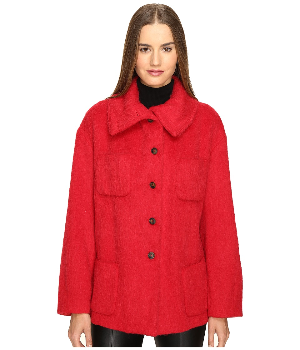 Manila Grace - Funnel Neck Jacket (Red) Women's Coat