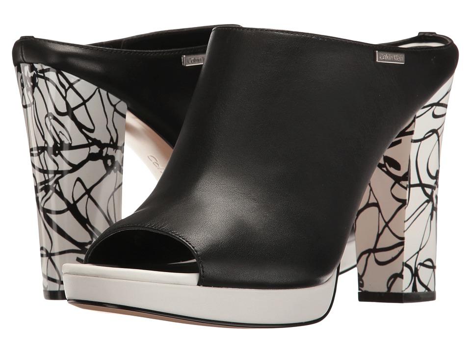 Calvin Klein - Beitris (Black Leather) Women's Shoes