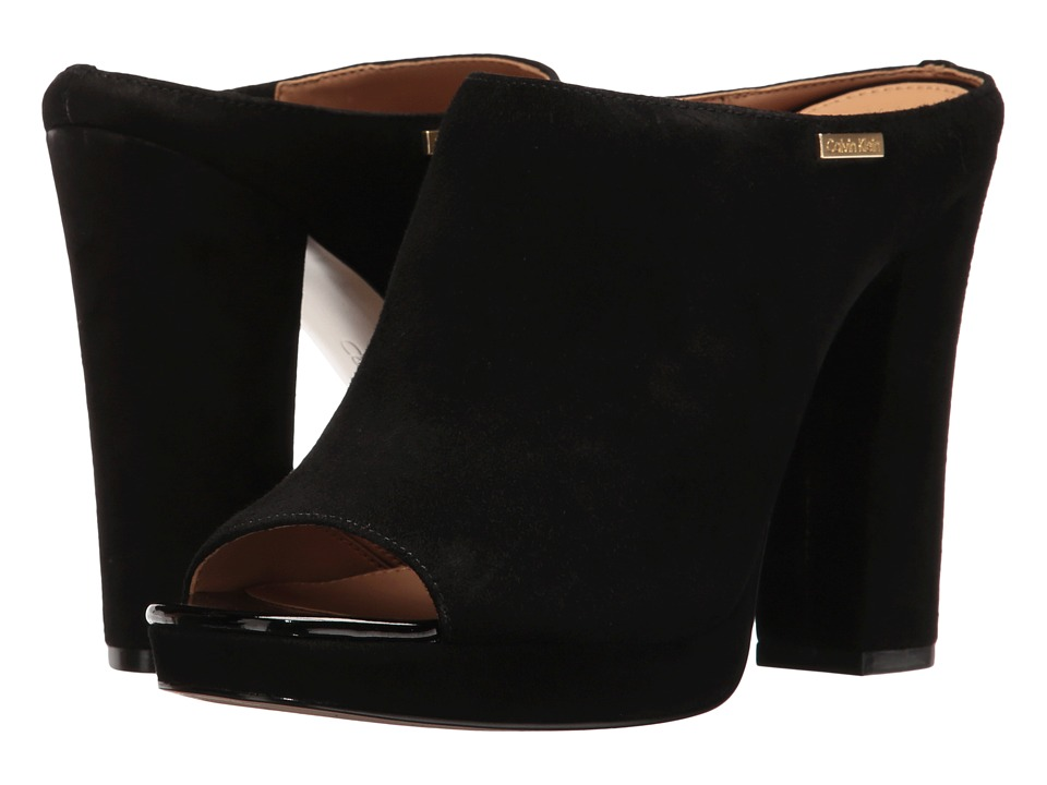 Calvin Klein - Beitris (Black Suede) Women's Shoes