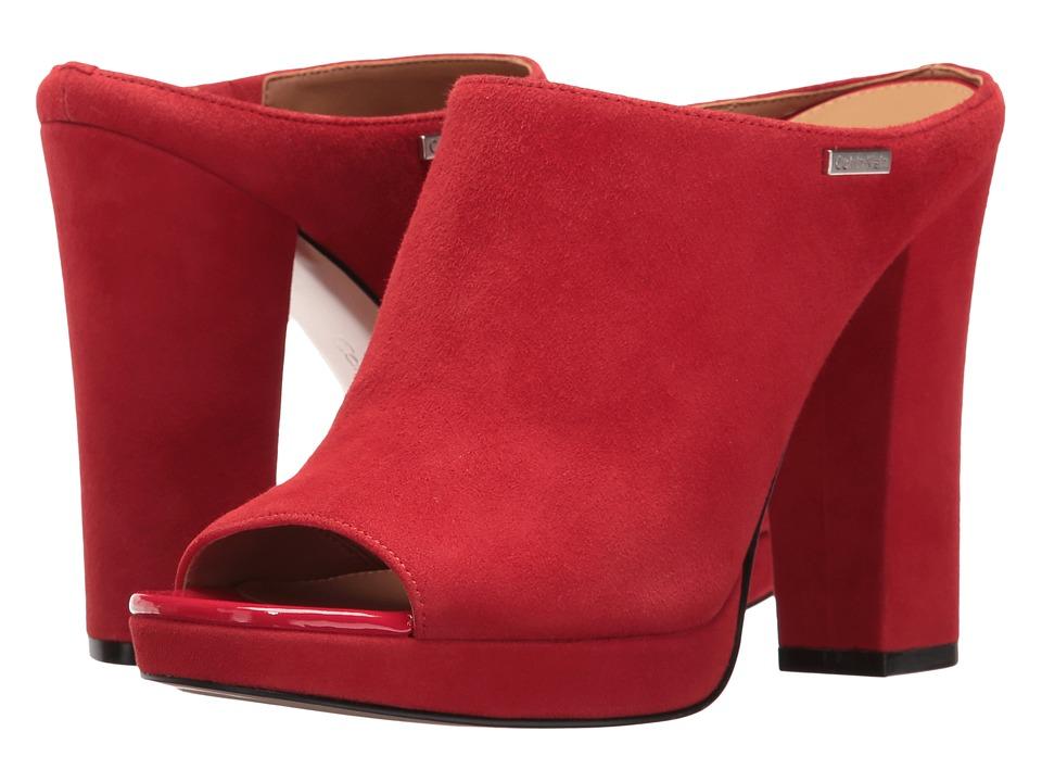 Calvin Klein Beitris (Lipstick Red Suede) Women