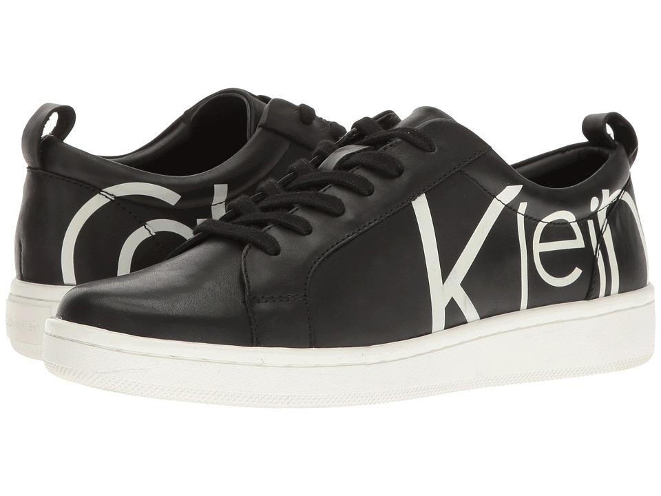 Calvin Klein - Danya (Black/White Logo Print Leather) Women's Shoes