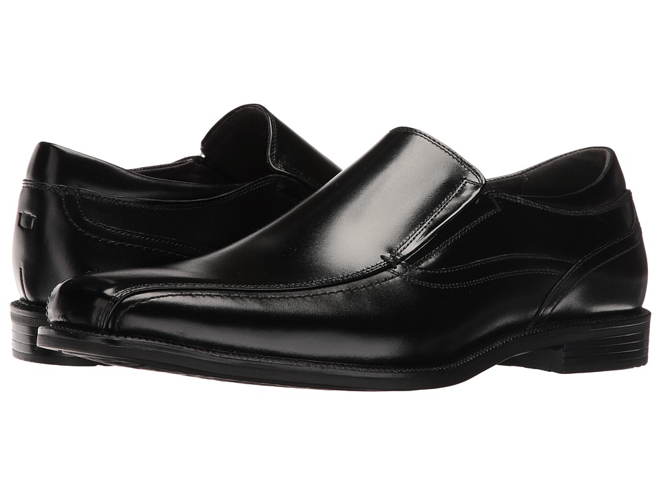 Florsheim Portico Bike Toe Slip-On (Black Smooth) Men
