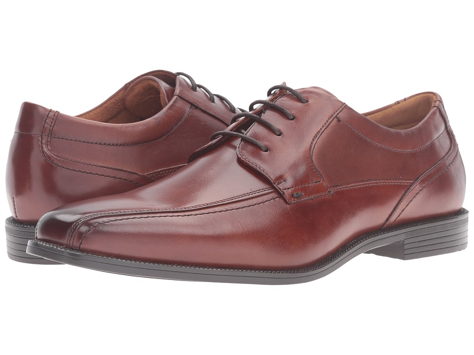 Florsheim - Portico Bike Toe Oxford (Cognac Smooth) Men's Shoes