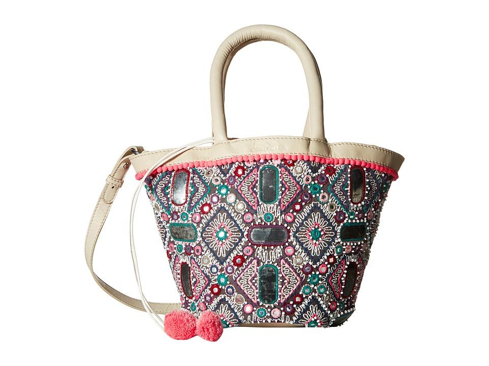 Sam Edelman - Irene Embroidered Satchel (Multi/Ivory) Satchel Handbags