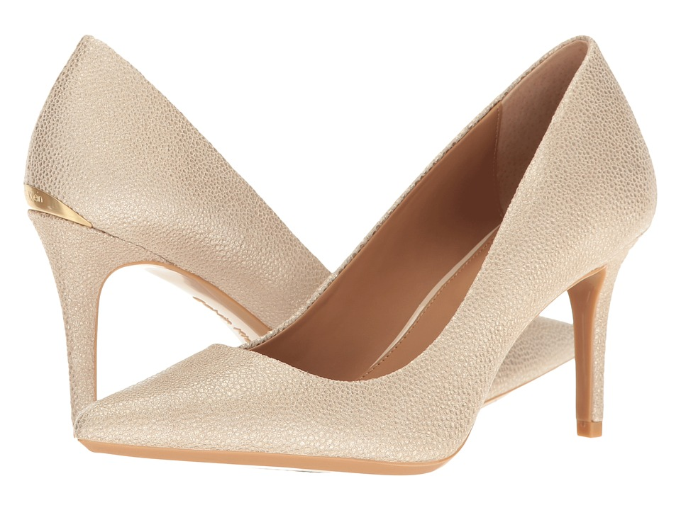 Calvin Klein - Gayle (Sand Stingray Print Leather) High Heels