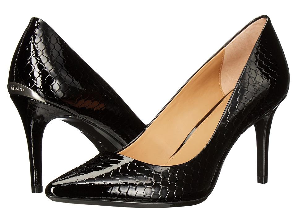 Calvin Klein - Gayle (Black Python Print Patent) High Heels