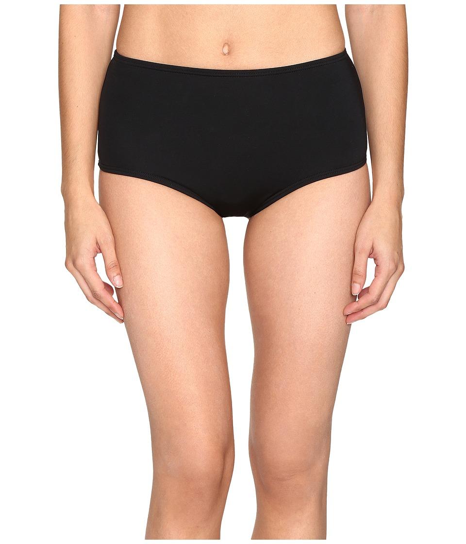 Kate Spade New York - Plage Du Midi High Waist Bikini Bottom (Black) Women's Swimwear