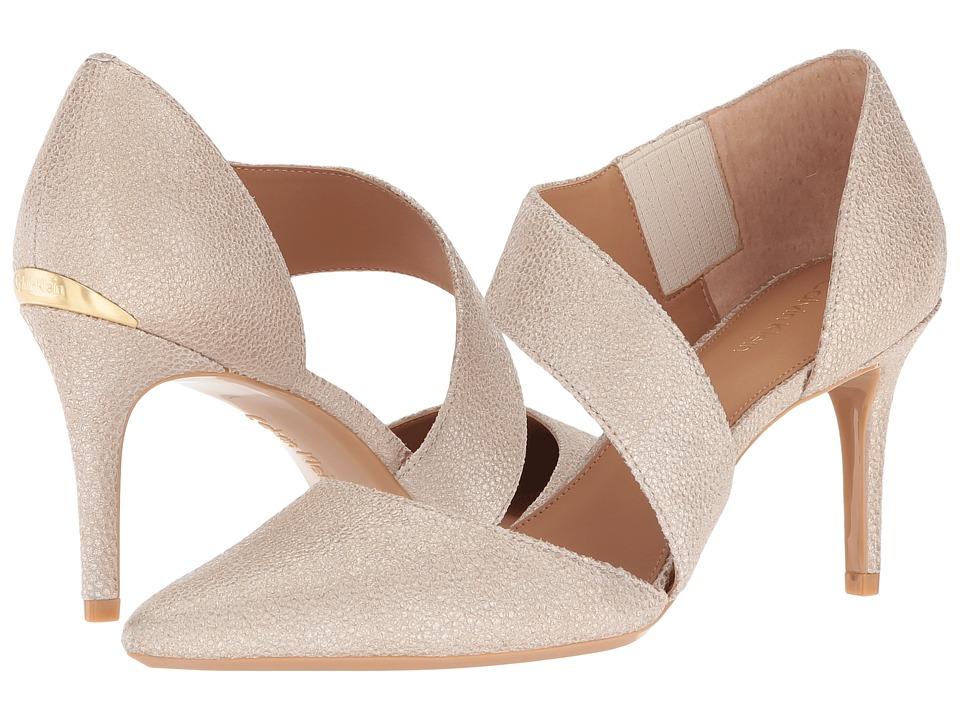 Calvin Klein Gella Pump (Sand Stingray Print Leather) High Heels