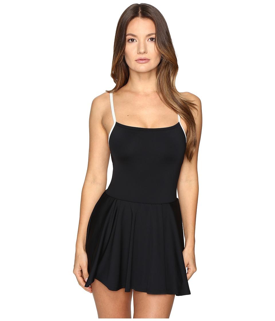 Kate Spade New York - Plage Du Midi Strap Back Swim Dress (Black) Women's Swimwear