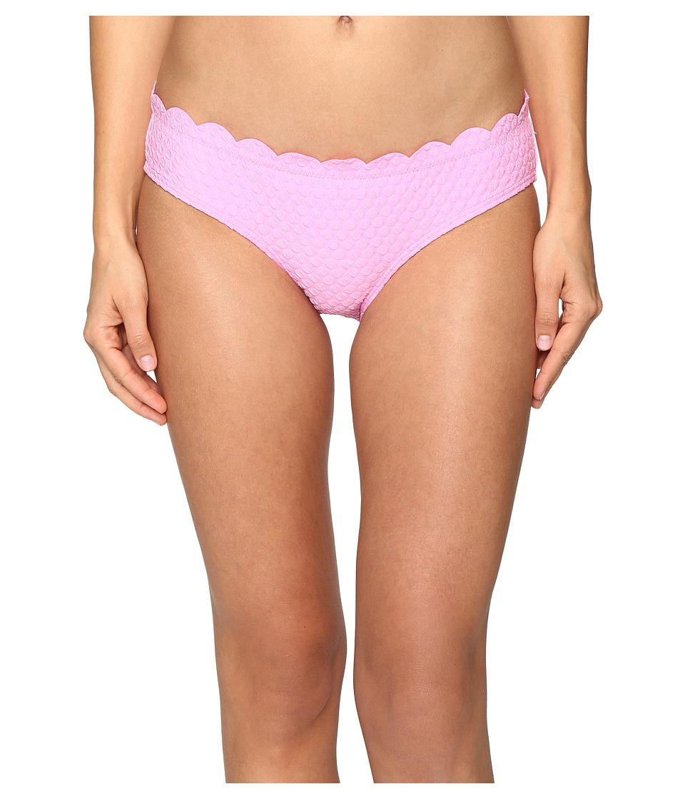 Kate Spade New York Marina Piccola Scalloped Bikini Bottom (Teatime Pink) Women