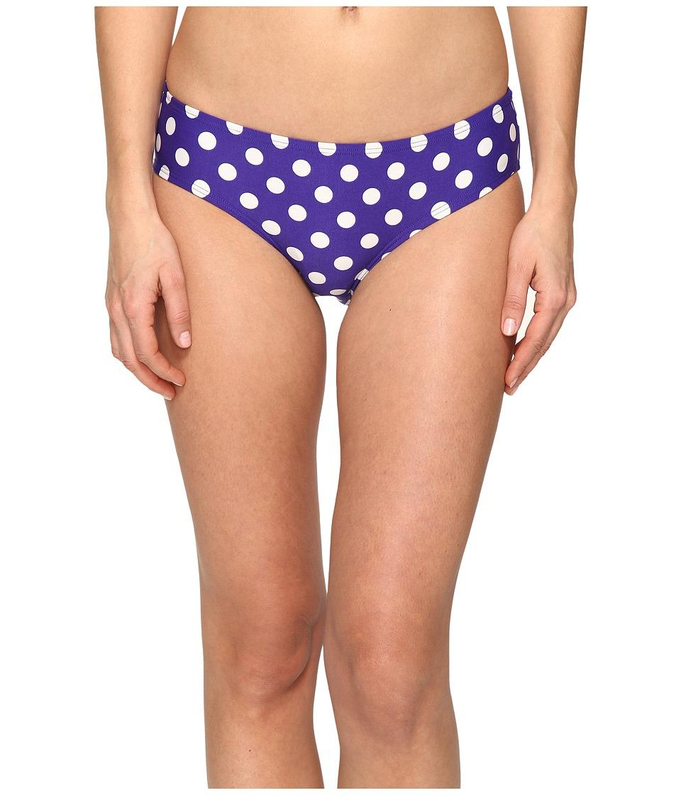 Kate Spade New York - Polka Dot Hipster Bikini Bottom (Nightlife Blue) Women's Swimwear