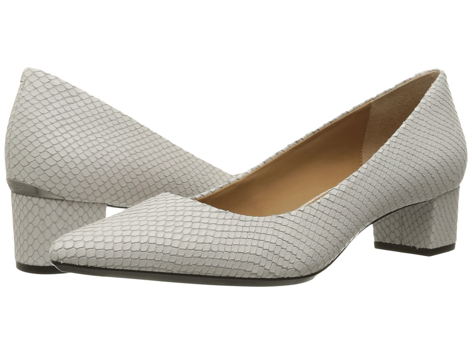 Calvin Klein - Genoveva (Platinum White Snake Print Leather) Women's Shoes