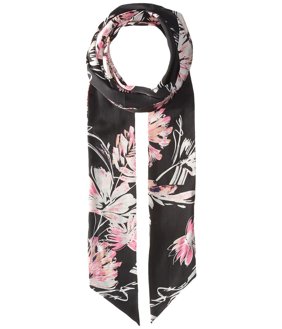 Vince Camuto - Ecstatic Floral Skinny (Dark Navy) Scarves