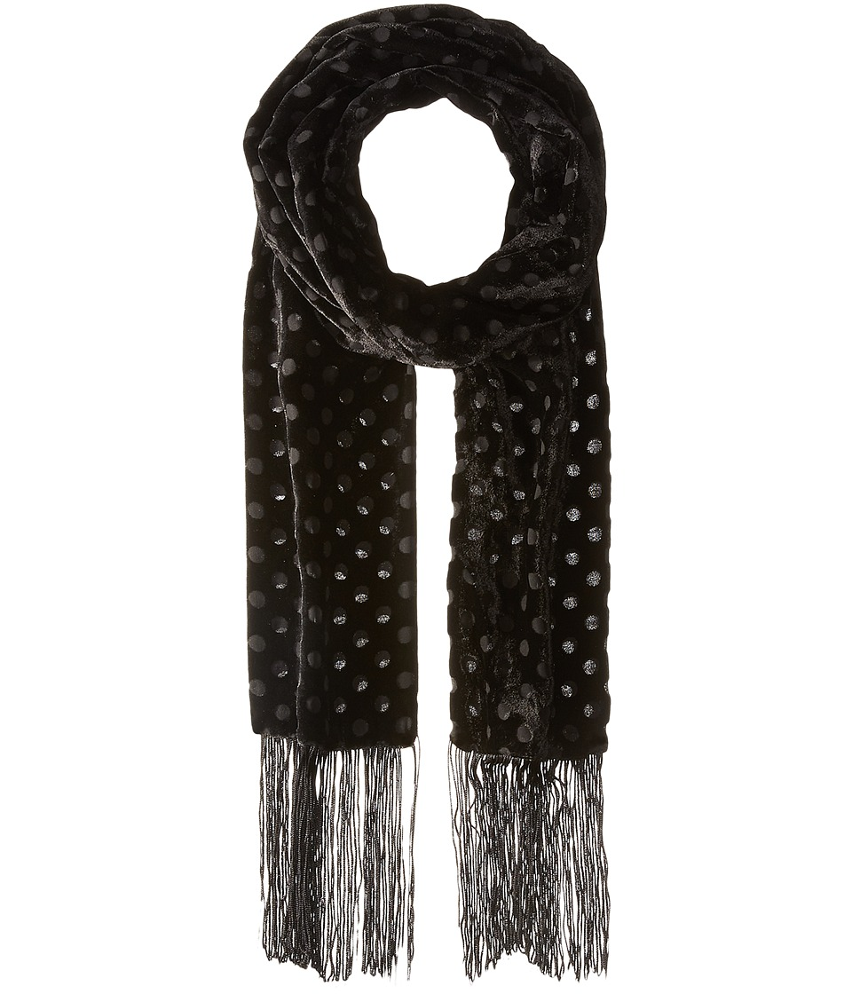 Vince Camuto - Polka Dot Skinny (Black Beauty) Scarves