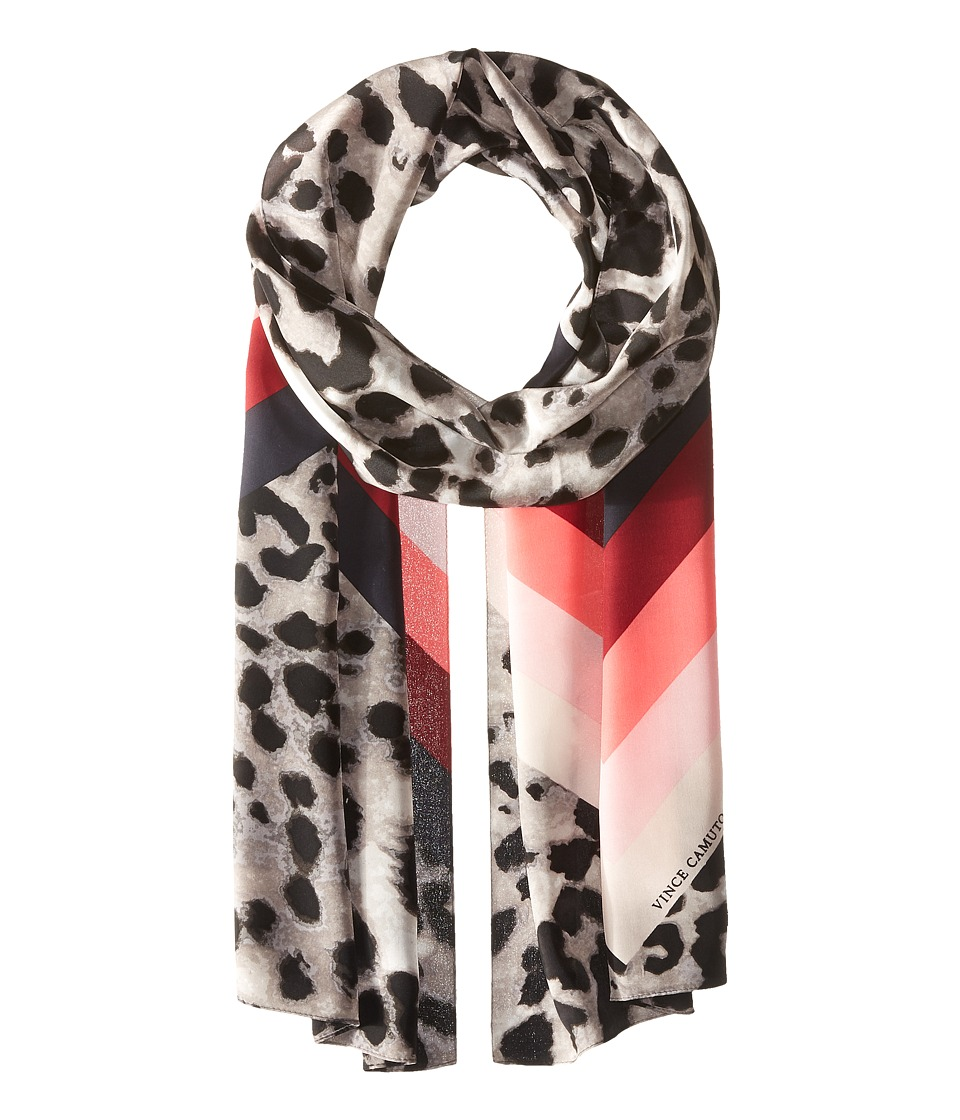 Vince Camuto - Cheetah Chevron Oblong (Black Beauty) Scarves