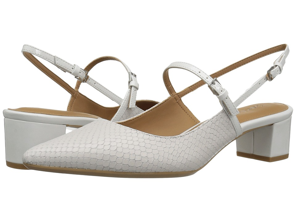 Calvin Klein - Georgette (Platinum White Snake Print Leather) Women's Shoes
