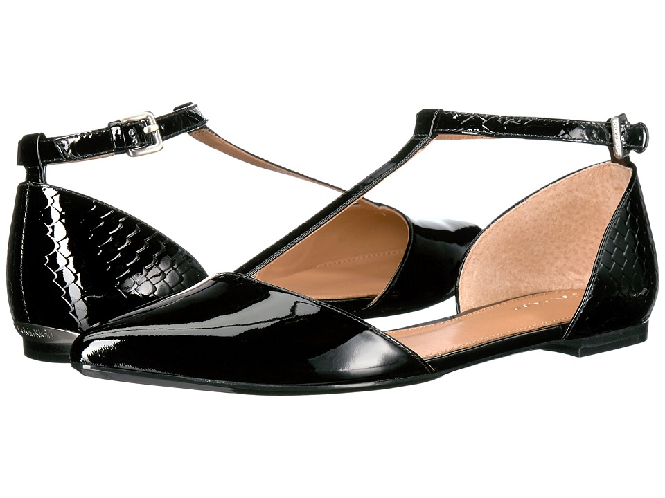 Calvin Klein Ghita Flat (Black Patent) Women