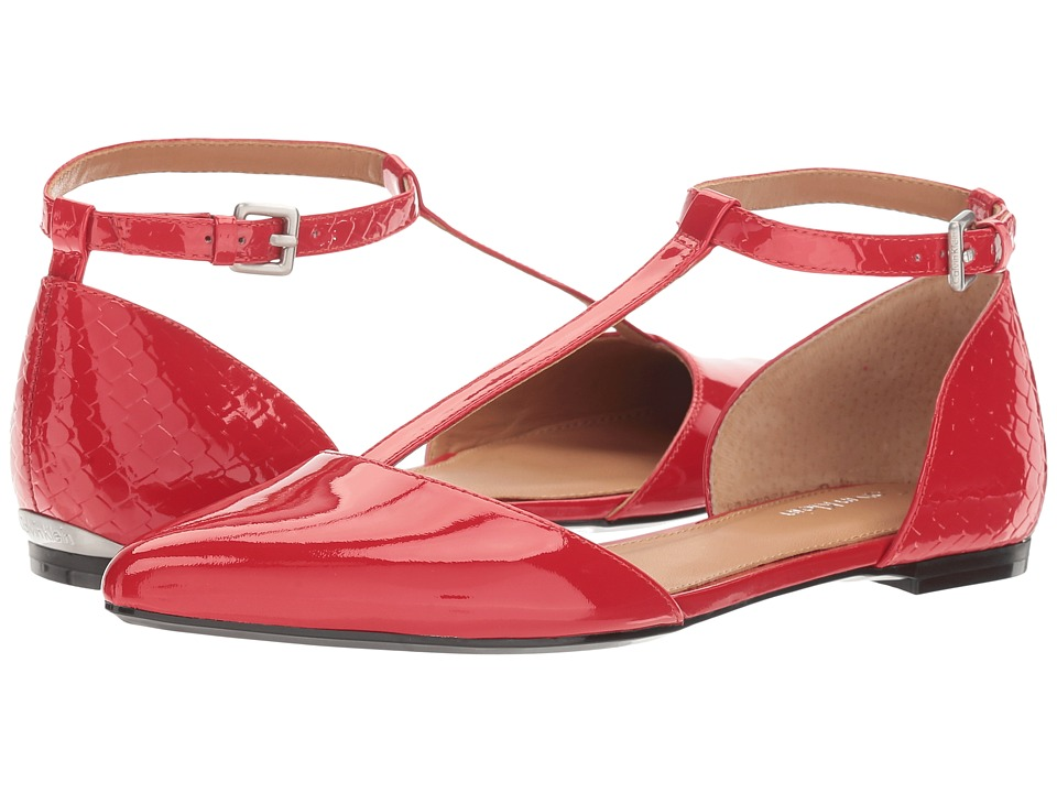 Calvin Klein - Ghita (Lipstick Red Patent) Women's Dress Flat Shoes