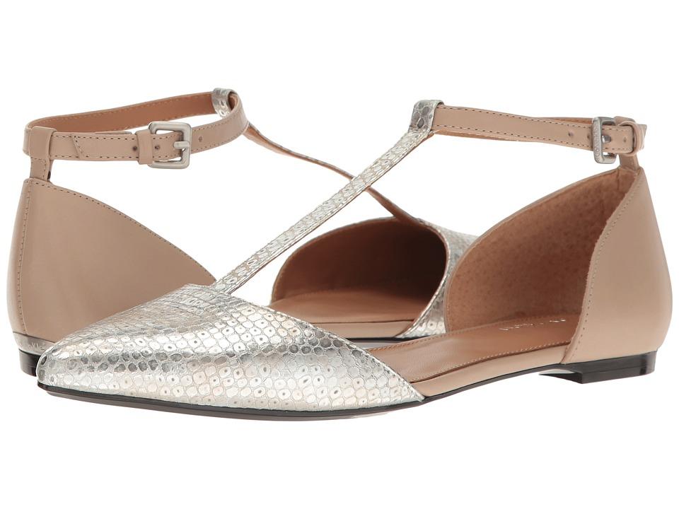 Calvin Klein - Ghita (Silver Metallic Leather) Women's Dress Flat Shoes