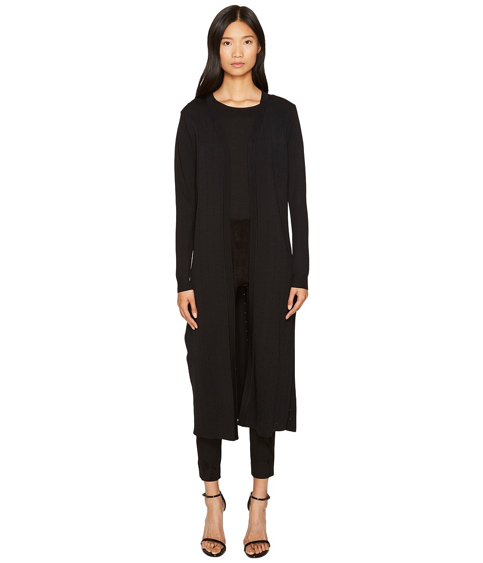 LAMARQUE - Arin Knit Duster Cardigan (Black) Women's Sweater