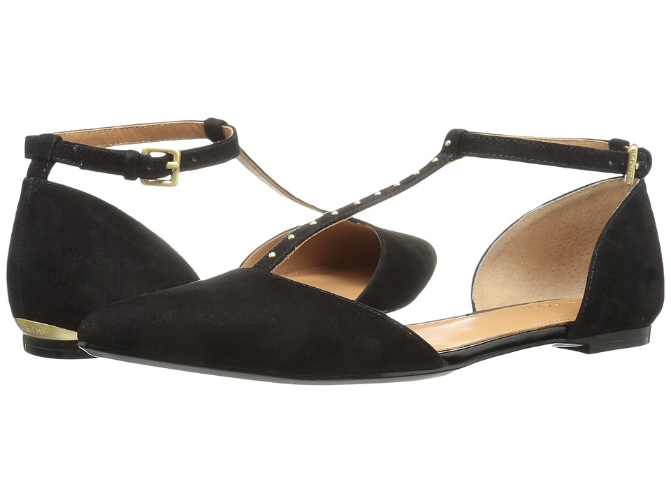 Calvin Klein - Gina (Black Suede) Women's Shoes