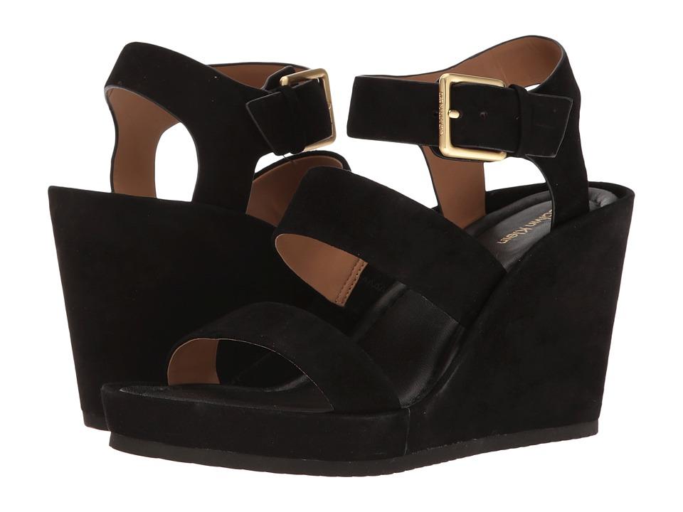 Calvin Klein - Hailey (Black Suede) Women's Shoes
