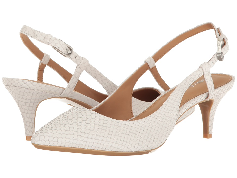 Calvin Klein - Patsi (Platinum White Snake Print Leather) High Heels